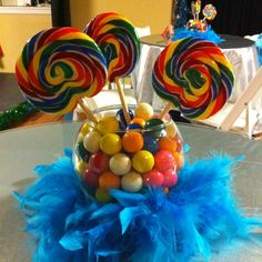 Candy centerpiece without the feathers maybe :)