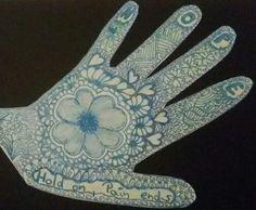 Hope - Hand / Zentangle