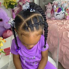 Little Girls Natural Hairstyles, Mixed Kids Hairstyles, Cute Toddler Hairstyles, Kids Curly Hairstyles, Black Baby Hairstyles, Childrens Hairstyles, Little Girl Braids, Girls Braids, Twisted Hair