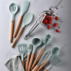 Silicone Kitchenware Cooking Utensils Set Heat Resistant Kitchen Non-Stick Cooking Utensils Baking Tools With Storage Box. Silicone Kitchen Utensils, Cooking Utensils Set, Kitchen Utensil Set, Kitchen Sets, Cooking Tools, Kitchen Tools, Kitchen Dining, Cooking Gadgets, Kitchen Gadgets