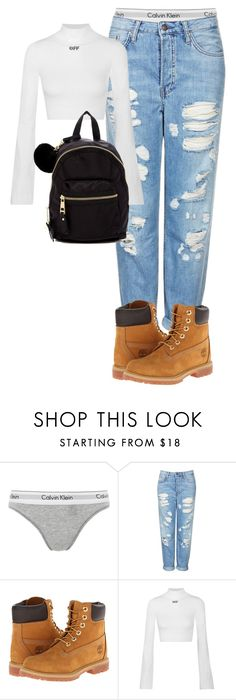 """""""Untitled #1743"""" by gracerosborough ❤ liked on Polyvore featuring Calvin Klein Underwear, Topshop, Timberland, Off-White and Madden Girl"""