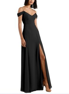 The Jenny Yoo Priya Bridesmaid Dress is a great option! Find Jenny Yoo bridesmaid dresses at Brideside. Bridesmaid Boxes, Bridesmaid Dresses Online, Black Bridesmaid Dresses, Black Tie Affair, Elegant Dresses, Boho Dress, Dress Collection, Cold Shoulder Dress, Gowns