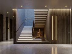 SHADES OF BEIGE on Behance Door Design Images, Tv Wall Design, Floor Design, Ceiling Design, Staircase Design Modern, Home Stairs Design, Modern Stairs, House Design, Spanish Style Bathrooms