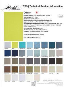Alendel Fabrics Oscar TPS | Technical Production Information Sheet