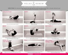Relaxing Yoga Sequence - Mia Note: I just did this and I feel stretched and relaxed. It only took about 10 minutes to complete the sequence. I'm ready to go to bed!