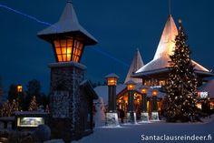 Arctic Circle line and Santa Claus Village in Rovaniemi in Lapland