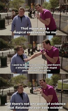 """Billy's also extremely passionate. He once went on an amazing rant about Ratatouille mid-interview. 
