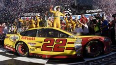 And then the celebrations continued in Gatorade Victory Lane for Joey Logano and his Team Penske crew.