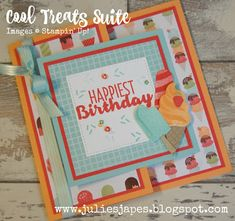 Julie Kettlewell - Stampin Up UK Independent Demonstrator - Order products 24/7: Cool Treats Video