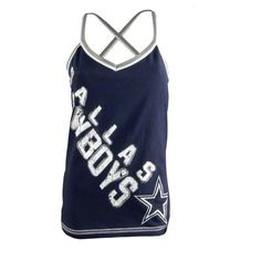 #DallasCowboys Women's Navy Cheer Tank Top