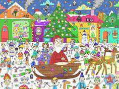 New Xmas drawing. Hope everyone has a very Merry Christmas! #Christmas #drawing #artfido #nawden #colour #artsanity #draw #art #cartoon