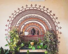 Mural I did two years ago for a good friend who loves henna! #henna #mehndi…
