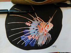 Saki drawing tattoo love fisch