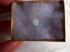 Micro Rough Opal Pendant & 925 Sterling Silver or by KalosandCo, $40.00