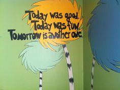 Dr. Seuss bedroom mural www.facebook.com/artworxbyamanda