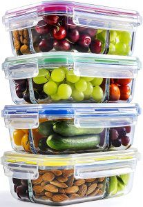 Food storage containers meal prep freezer cooking Ideas for 2019 3 Compartment Food Containers, Meal Prep Containers, Food Storage Containers, Glass Containers, Container Shop, Glass Food Storage, Bento Box Lunch, Freezer Cooking, Portion Control