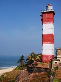 Suratkal Light, Suratkal, April of India: Kerala and Karnataka Kerala, Creative Commons Photos, Kanyakumari, Lighthouse Painting, Roof Lantern, Visit India, Beacon Of Light, Dark Places, Light House