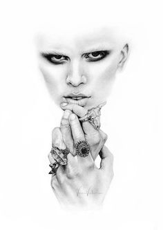 Ethereal ORIGINAL Pencil Illustration 'Ring by VanessaVanderhaven, $149.00