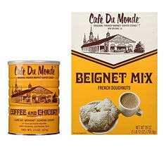 Almost everyone who goes to New Orleans visits Cafe Du Monde for coffee & beignets (French doughnuts). They also sale their ground coffee & beignet mix Beignet Mix, Beignet Recipe, How To Make Beignets, Cafe Du Monde Coffee, Star Cafe, Cake Kit, Coffee Stands, Coffee Candle, Gourmet Recipes