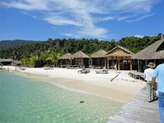 Sok San Bungalows on Koh Rong Island in Cambodia - there are flights to Phnom Penh from all over Asia and tourism is just about to boom, so now is the time to discover Cambodias beaches