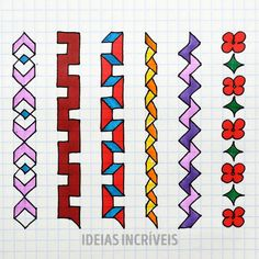 Business Ideas For Women Discover Desenhos em um caderno Graph Paper Drawings, Mini Drawings, Graph Paper Art, Art Drawings For Kids, Pencil Art Drawings, Easy Drawings, Art Sketches, Mandala Art Lesson, Paper Crafts Origami
