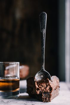 Chocolate Bourbon Mousse Cake with Ganache