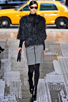 DKNY: Fall 2012  Great combination of lines and textures