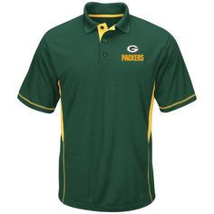 NFL Mens Green Bay Packers Synthetic Polo: Shopko