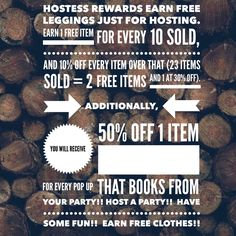 Want to have fun and earn free clothes?? Host a pop up!! Check out my group on Facebook https://www.facebook.com/groups/lularoeleslieurbec/