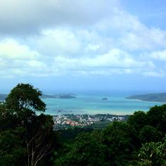 View from the top of Big Buddha in Phuket, Thailand.