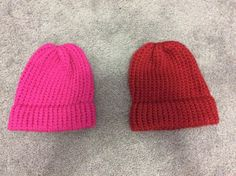 Handmade Lot of 2 Knitted Unisex Hats | eBay