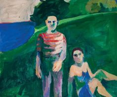 """Theophilus Brown """"Figures in a Field"""", 1962"""