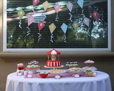 Lovely decorations for a birthday party