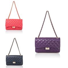 Inspired by some of the best is our classy Bianca bag. Available in red, purple or black, you can choose the colour that best matches your style.