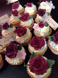 Funeral cupcakes made for a lovely lady