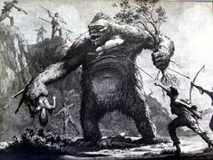 ‪Concept art for King Kong (1933).