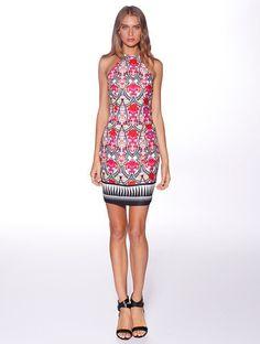 Honey & Beau 'Marrakech' Body Con Dress in Tribal Rose – Lotus Boutique