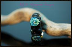 K.R.H. Lampwork Designs ~ Silver Glass Murrini Lampwork Beads ~ Pandora/Troll/Biagi ~ European Large Hold Bead