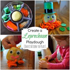 Create a Leprechaun Playdough for St. Patrick's Day (Invitation to Play) from I Heart Crafty Things.