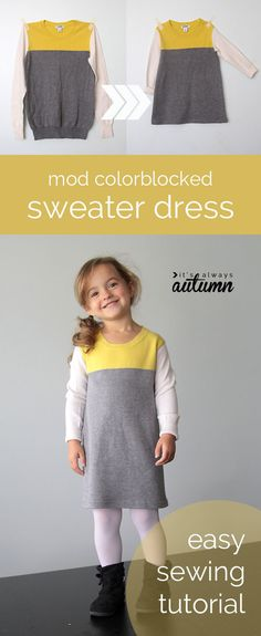 Mod Colorblocked Sweater Dress from Its Always Autumn is our way of celebrating #NationalSewingMonth Day 18! Get in on the fun & win a prize!