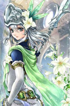 Anime Fantasy, Dark Fantasy, Manga Anime, Anime Art, Mini Canvas Art, Warrior Girl, Anime Princess, Anime Japan, Kawaii Anime