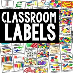 Classroom Labels – Real Photos for Preschool, Pre-K, Kinder, & Grade Label your entire classroom for students with HUGE Preschool Classroom Labels, Preschool Rooms, Preschool Centers, Preschool Curriculum, Classroom Themes, Classroom Organization, Toddler Preschool, Preschool Teachers, Preschool Center Labels