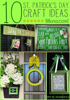 http://ipdn.teamrhino.info/pin/ 10 ADORABLE St. Patrick's Day Craft Ideas on { lilluna.com }