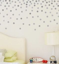 Wall Decals Gold Polka Dots Nursery And Home Wall Decal Decor - Gold dot wall decals nursery