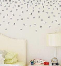 Metallic Silver Polka Dot Wall Decals Polka Dot Walls Share - Wall decals polka dots