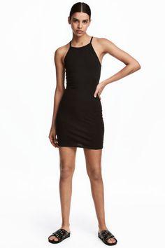 Dopasowana sukienka z dżerseju - Czarny - ONA | H&M PL