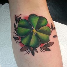 45 Cute Four Leaf Clover Tattoo Ideas and Designs - Lucky Plant Check more at http://tattoo-journal.com/45-cute-four-leaf-clover-tattoo-ideas-and-designs-lucky-plant/