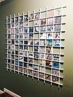 Left wall - All of Papa's personalized playlists and album artworks Cd Storage, Vinyl Storage, Record Storage, Home Room Design, House Design, Picture Rail, Shop Organization, Hanging Photos, Displaying Collections