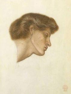 Dante`s Dream at the Time of the Death of Beatrice study via Dante Gabriel Rossetti Size: 61x54 cm Medium: pen