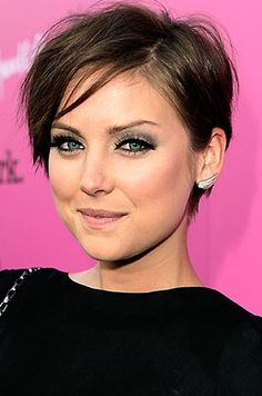 Remember the secret to a cute short hair cut... is makeup!!!